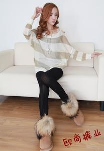 Stereo love winter new style Jacquard cashmere warm pants and thicker one pants