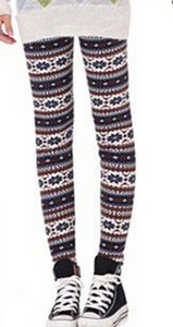 Fall/winter warm snow deer Footless wind and wool thick skinny boot pants 8