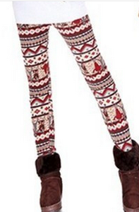 Fall/winter warm snow deer Footless wind and wool thick skinny boot pants 7