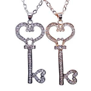 CAC1826 diamond-encrusted key accessories sweater chain long necklace