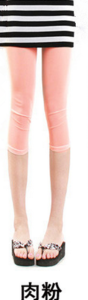 New slim Candy-colored mesh in summer cropped leggings girls color skinny slim stretch pants 3