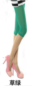 New slim Candy-colored mesh in summer cropped leggings girls color skinny slim stretch pants 8