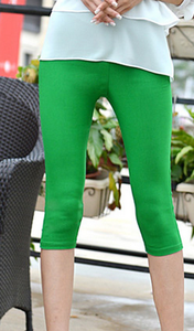 Candy-colored color leisure pants high waist pencil pants feet pants cropped Footless 17