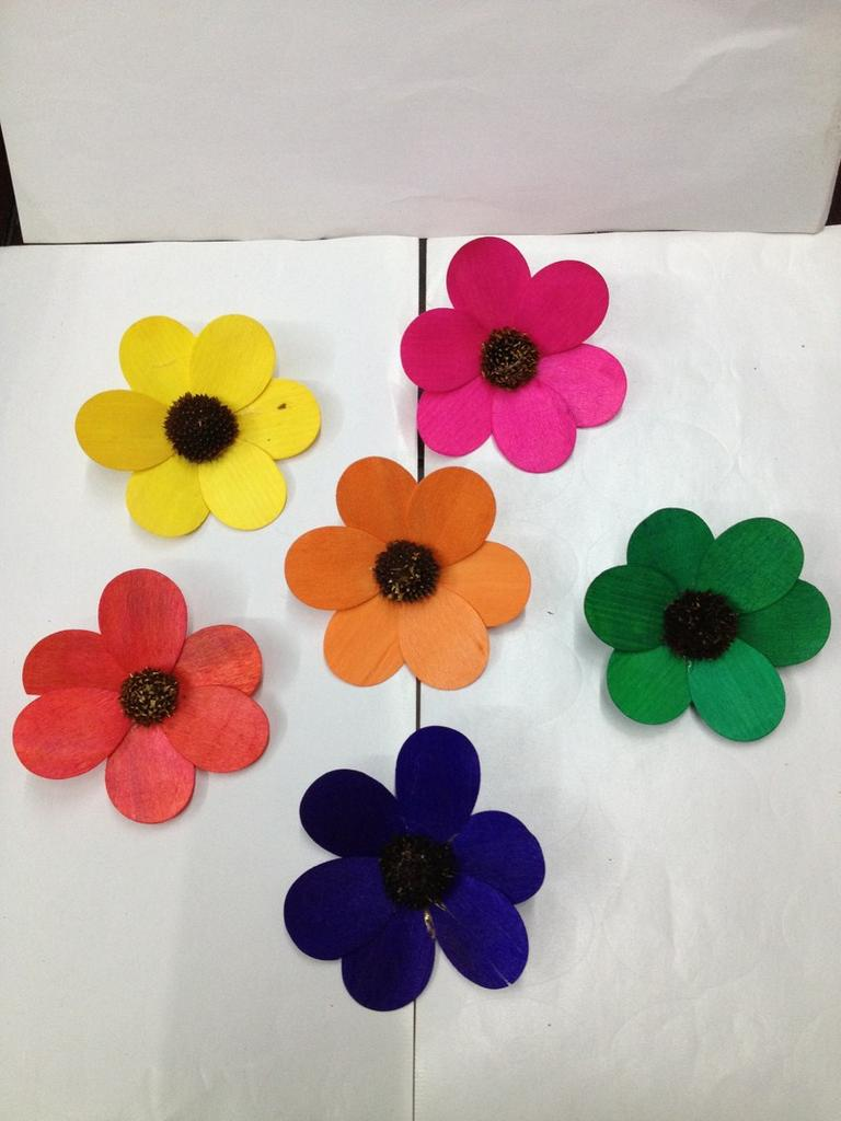 Supply factory direct six petal flower crafts decorative - Crafts with flower petals ...