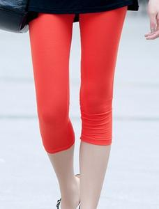 Good elasticity Korean candy color cropped footless tights pants 8