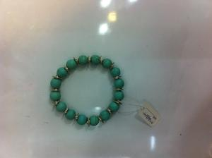 Turquoise and alloy accessories, handmade bracelets