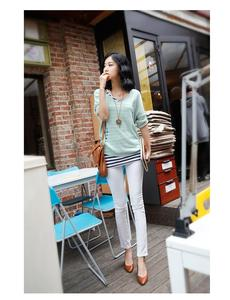 Korea spring and autumn color pencil pants skinny slim leggings