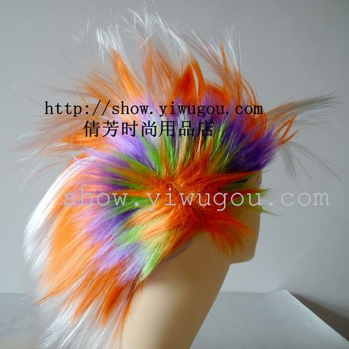 disorderly party wigs,Comb wig,Wool comb hair,ZMY-QS