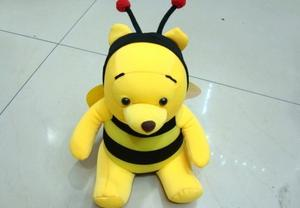Cartoon Winnie the Pooh Plush toys carbon bag butterfly charcoal bag