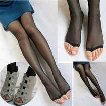 Cored wire thin transparent open-toe socks toe sock fish stockings pantyhose women summer factory wholesale low price