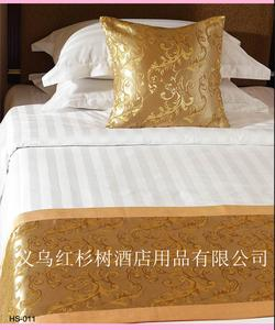 Yiwu redwood tree manufacturers supply of discount hotel rooms/bedding 3 cm satin Strip four suites