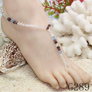 Factory outlets in Europe and America trade fashion handmade beaded turquoise bangles fringes even-toed foot chain