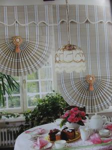 The bamboo curtain, fan-shaped bamboo and bamboo roller blinds