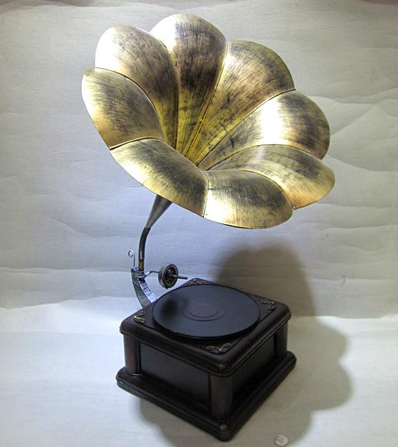 Supply vintage retro record player phonograph model for Old objects