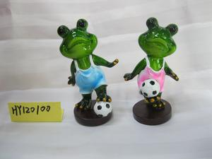 Factory direct resin resin frog crafts for indoor swing accessories gifts HY120100