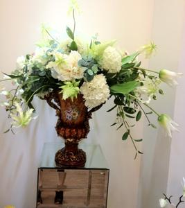 Potted bride flowers artificial flowers flower suits feel flower fabric flowers [beautiful