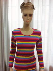 Colourful striped Lycra cotton women's thermal underwear