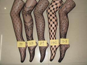 Vintage floral lace hollow-carved net stockings pantyhose