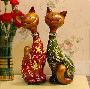Continental lucky cat ornaments resin home decoration fashion craft wedding gifts 38009