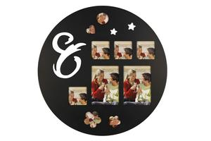 Combination of black and white round photo frame wooden picture frame photo frames