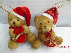 Christmas bear plush toys Christmas gifts decorations sit small pendants bear crafts