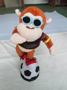 Electric music interactive intelligent Plush football baby toys wholesale