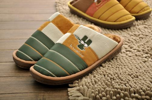 Deer 2835 males drag and thickened and warm cotton wool and cotton slippers new men's cotton wholesale
