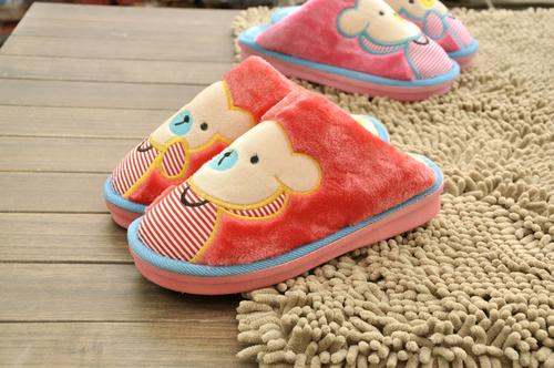 Cartoon bear 13-01 Jia Nan thicken cotton slippers wholesale warm thick wool couple's wool slippers