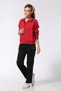 In elderly women sports suit three pieces of spring and autumn sports wear cardigan