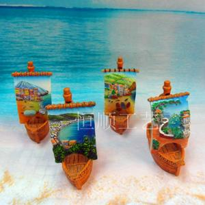 Classic sailboat resin crafts ornaments gifts sand table accessories