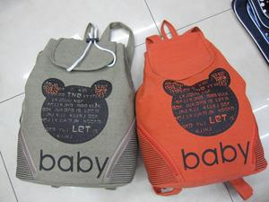 Couple backpack girl Korean version flows Institute sail cloth bag backpack bag
