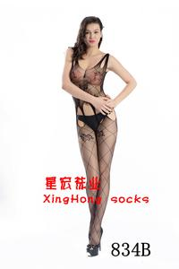 Erotic Siamese stockings seduction female perspective on slim sexy lingerie open crotch pantyhose fishnets one NET