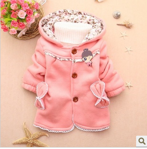 New children's clothes autumn 0-1-2 year old baby girl padded warm coat autumn outdoors