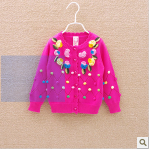 Children's clothes autumn baby sweater Cardigan coat sweater girls technology of cotton