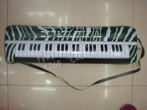 Electronic keyboard instrument PVC inflatable children's educational toys novelty entertainment