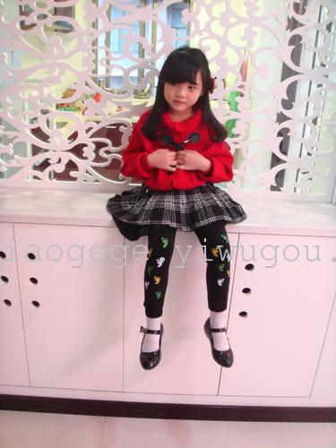 Qiaogege Children mirovelvet  warmpants