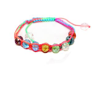 Europe and foreign trade original colorful Crystal bracelet jewelry wholesale handmade girl