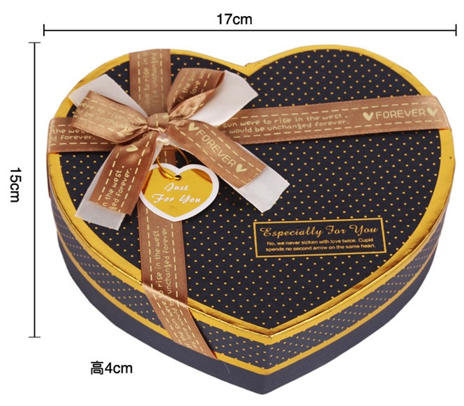 Chocolate Heart Shaped Gift Boxes : Supply heart shaped bronzing g chocolate candy box gift