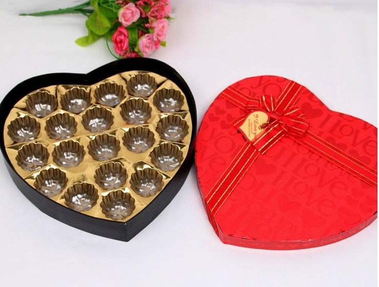 Chocolate Heart Shaped Gift Boxes : Supply new korean charm heart shaped chocolate box gift