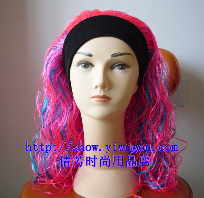 Supply Long Hair Curly Hair Wavy Hair Multi Colored Wigs