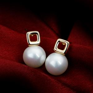 Foreign trade crystal earrings Korean fancy pearl earrings for Christmas gifts
