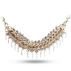 Europe and the big wind remix double line alloy necklace fashion ethnic jewelry trade