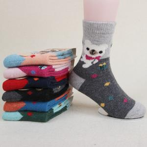 Fall/winter warm thick child children cold hardiness of rabbit wool socks in tube socks are warm and soft