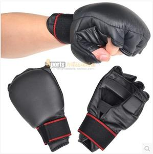 Thicken half-finger mittens gloves boxing bag mitts adult male wrist sandbags boxing set