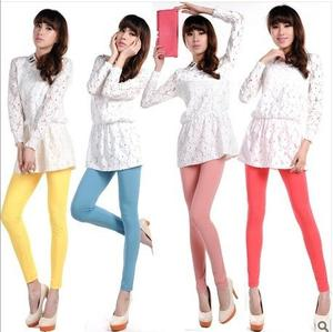 Spring and autumn Lady slim hip Candy-colored super soft velvet pencil pants mixed wholesale