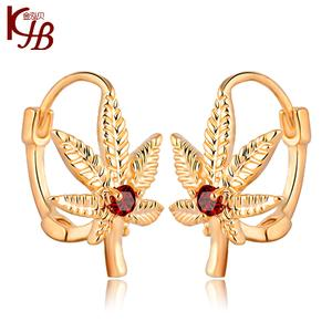 New Jewelry Earring Stud Girl Korea Vogue Maple Leaf Chinese Ear Clip  Christmas Gift