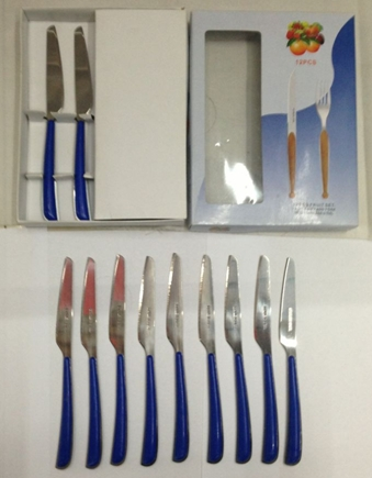 Supply Blue And White Box Of Colored Handle Stainless