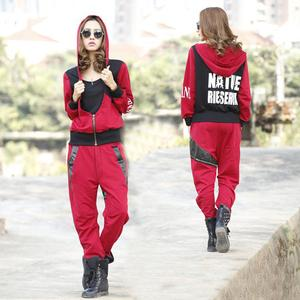 2014 spring new clothes COOL brand hooded knit suit sportswear, casual Korean version alphabet cotton knit sweater women