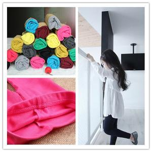 2014 New spring and summer children's leggings Girls' Candy-colored thread cotton stripes Cropped pants