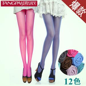Tang Pai end of spring hit of Candy-colored velvet pantyhose female silk kings pantyhose colored stockings Yiwu hosiery